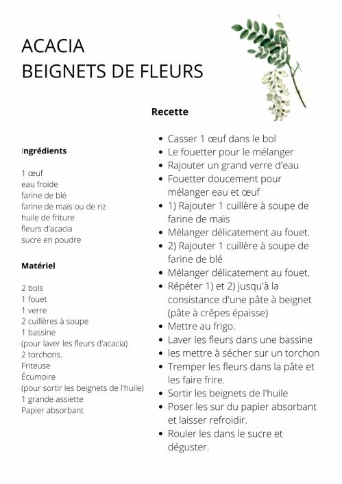 Beignets fleurs acacia